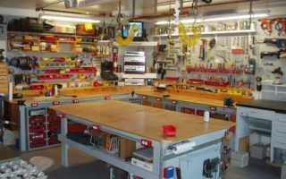 Исполнение стендов под инструмент в гараже