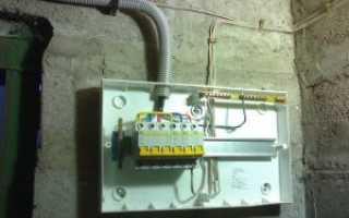 Электрощит в гараже своими руками