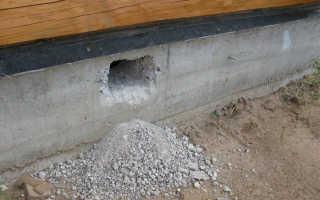 Отдушины в фундаменте деревянного дома