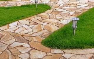 Как класть плитняк на бетонное основание