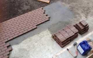 Как положить брусчатку на бетонное основание