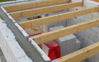 Устройство деревянного перекрытия в доме из газобетона