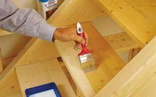 Краска для деревянных лестниц внутри дома