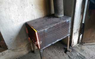 Мини печь для гаража своими руками