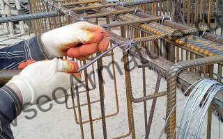 Как вязать арматуру на фундамент в ручную