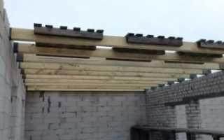 Устройство балочных деревянных перекрытий