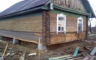 Подъём фундамента дачного дома