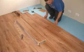 Как самому постелить ламинат на бетонный пол