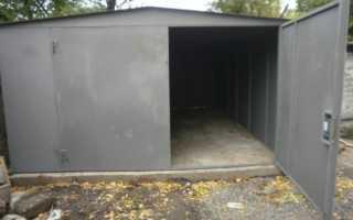 Основание под металлический гараж