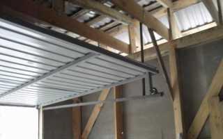 Вертикальные ворота для гаража своими руками