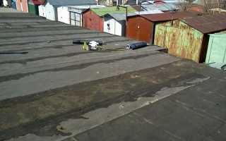 Ремонт крыши гаража своими руками мастикой