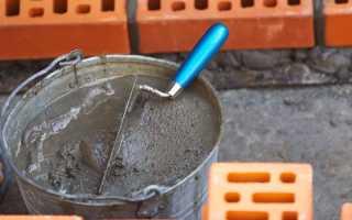 Как приготовить кладочный раствор для кирпича