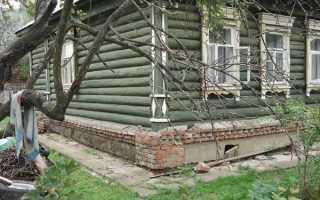 Подведение фундамента под старый деревянный дом