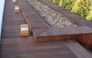 Как уложить террасную доску на бетонный пол