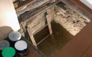 Вода в погребе гаража что делать