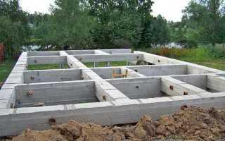 Свайно-винтовой фундамент под дом из пеноблоков