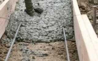 Состав бетона для фундамента забора