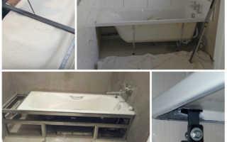 Как правильно крепить акриловую ванну к стене