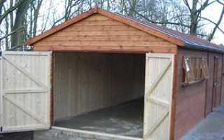 Каркасный гараж без фундамента