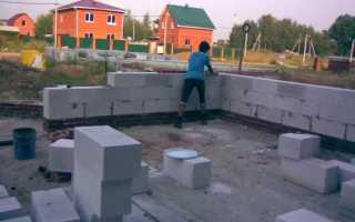 Фундамент своими руками под дом из пеноблоков