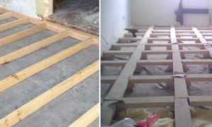 Как прикрепить брус к бетонному полу
