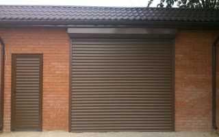 Рулонные ворота для гаража своими руками