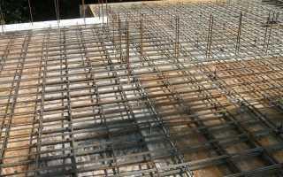 Заливка плиты перекрытия по грунту