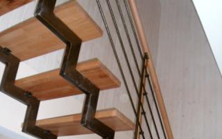 Лестница из трубы круглого сечения