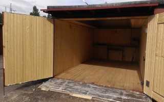 Устройство деревянного пола в гараже