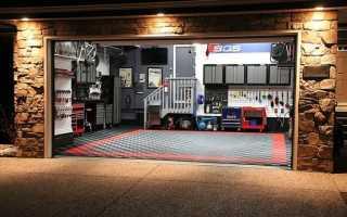 Отделка комнаты отдыха в гараже