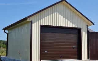 Металлокаркасный гараж своими руками