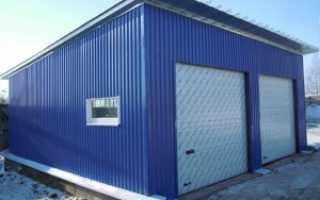 Как самому построить гараж из профнастила